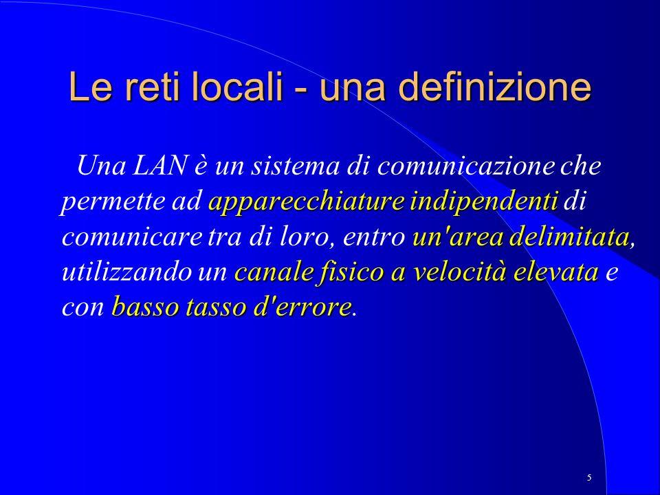 Le reti locali - una definizione
