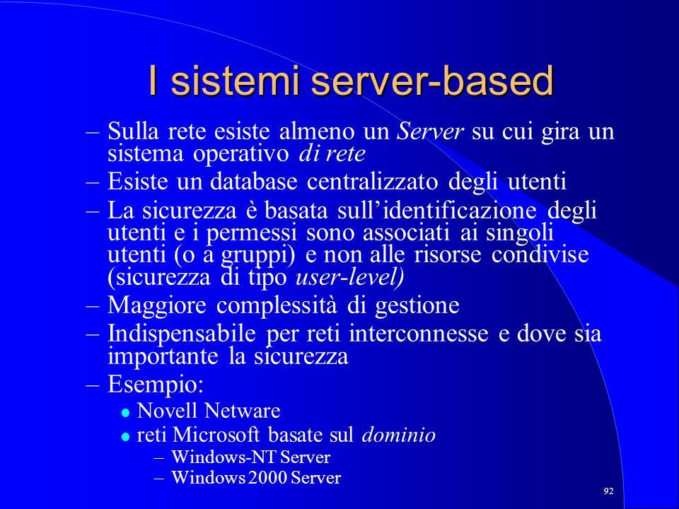 I sistemi server-based