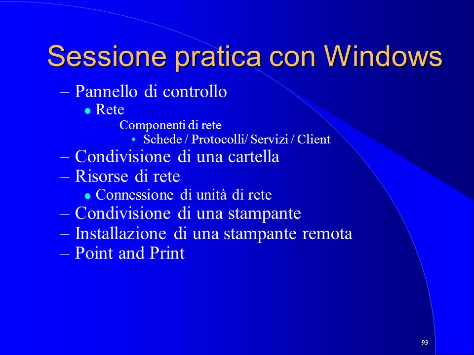 Sessione pratica con Windows