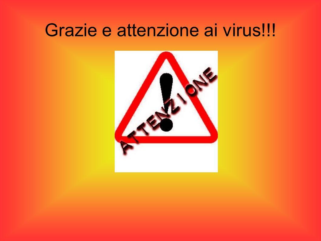 Grazie e attenzione ai virus!!!