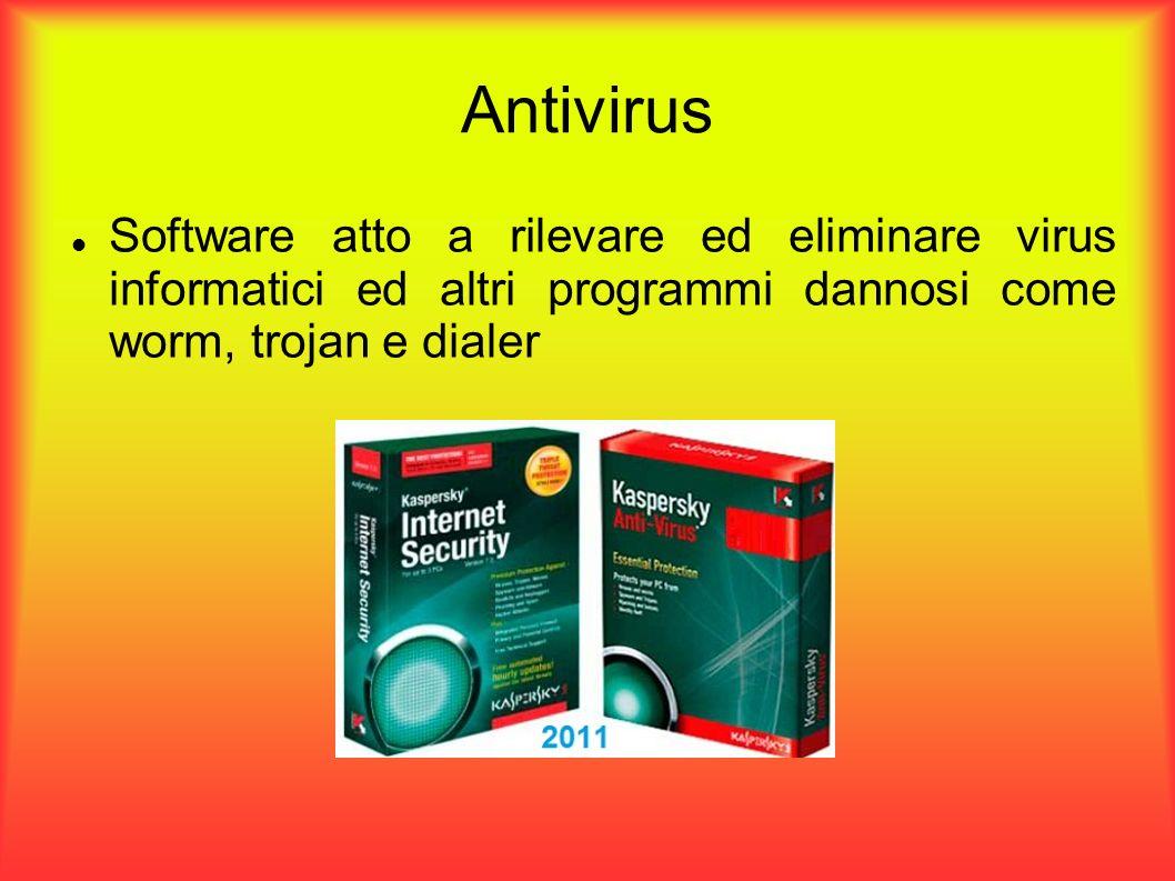 Antivirus Software atto a rilevare ed eliminare virus informatici ed altri programmi dannosi come worm, trojan e dialer.