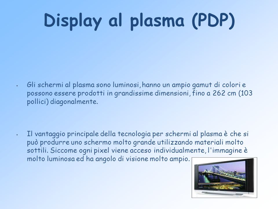 Display al plasma (PDP)