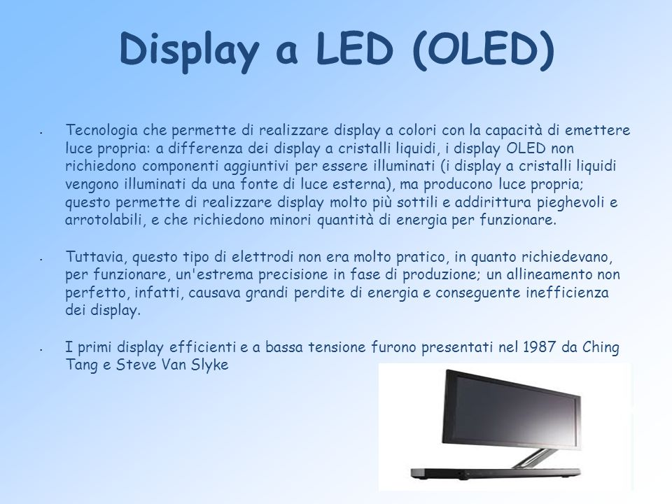 Display a LED (OLED)