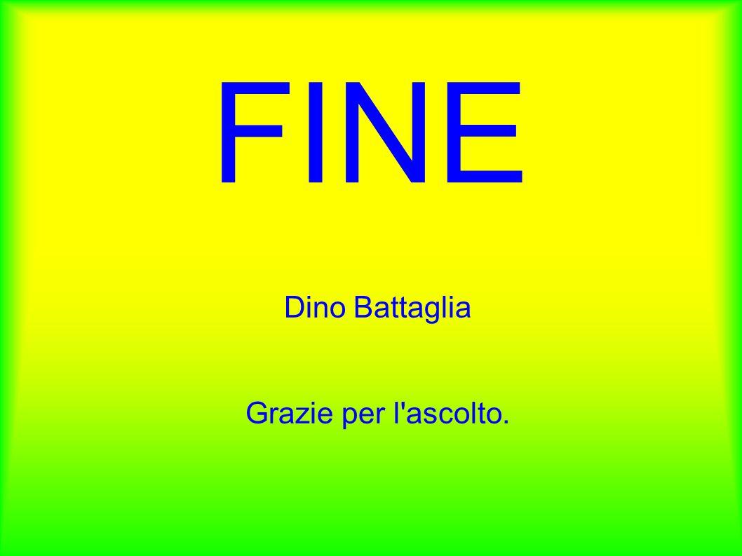 Dino Battaglia Grazie per l ascolto.