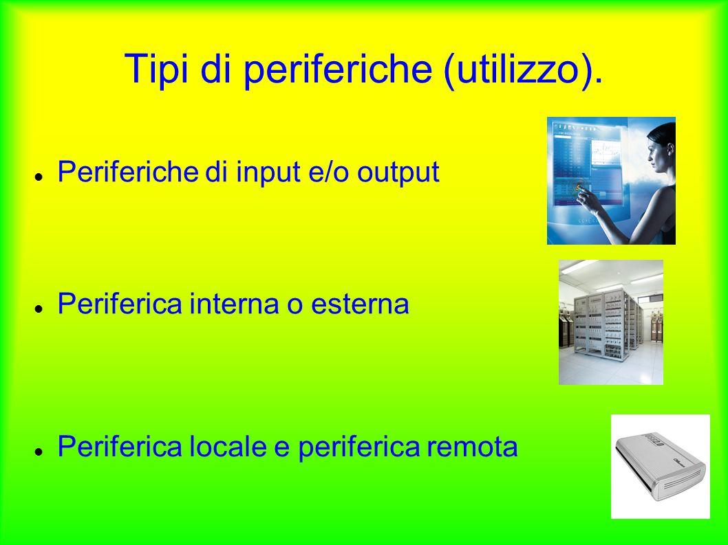 Tipi di periferiche (utilizzo).