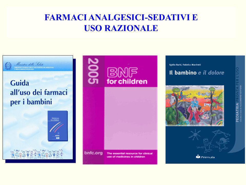 FARMACI ANALGESICI-SEDATIVI E USO RAZIONALE