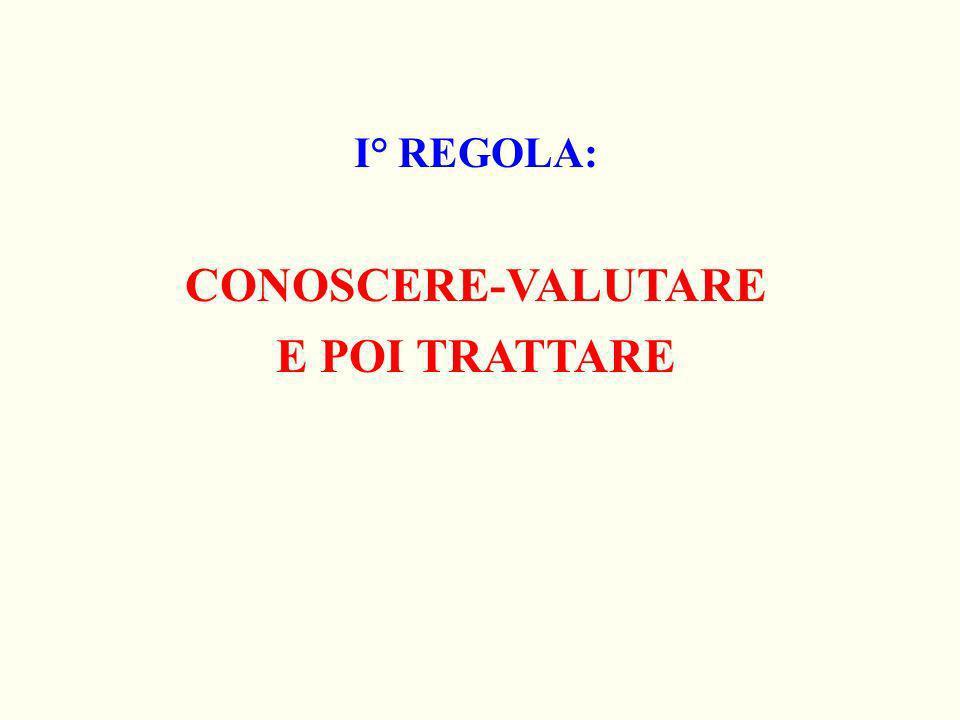 CONOSCERE-VALUTARE E POI TRATTARE
