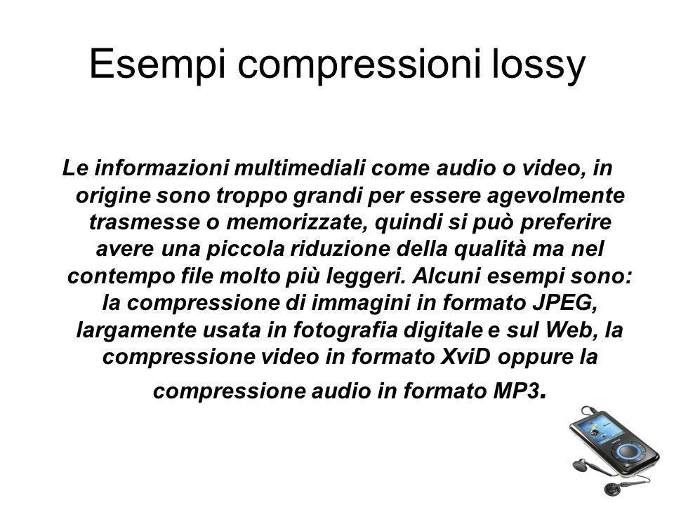 Esempi compressioni lossy