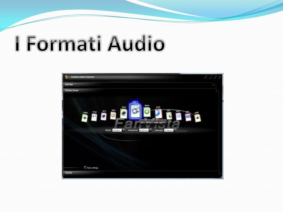 I Formati Audio