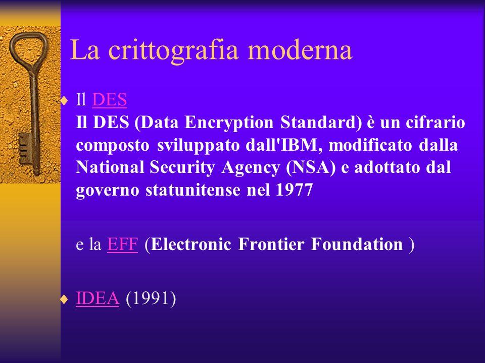 La crittografia moderna