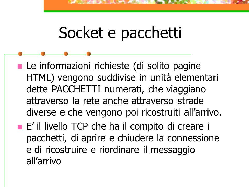 Socket e pacchetti