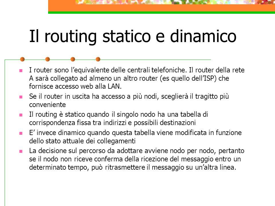 Il routing statico e dinamico