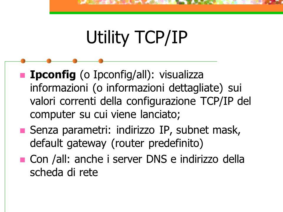 Utility TCP/IP