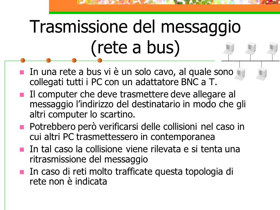 Trasmissione del messaggio (rete a bus)