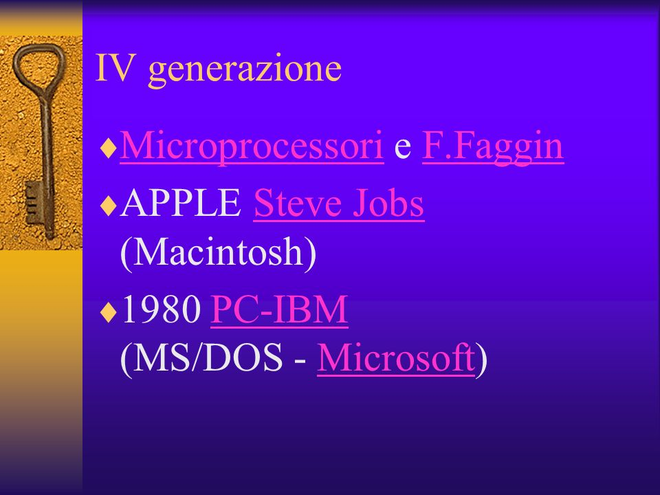 IV generazione Microprocessori e F.Faggin.
