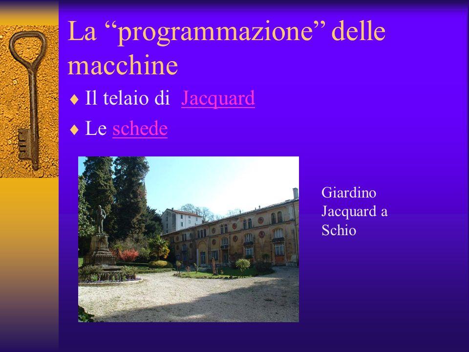 La programmazione delle macchine