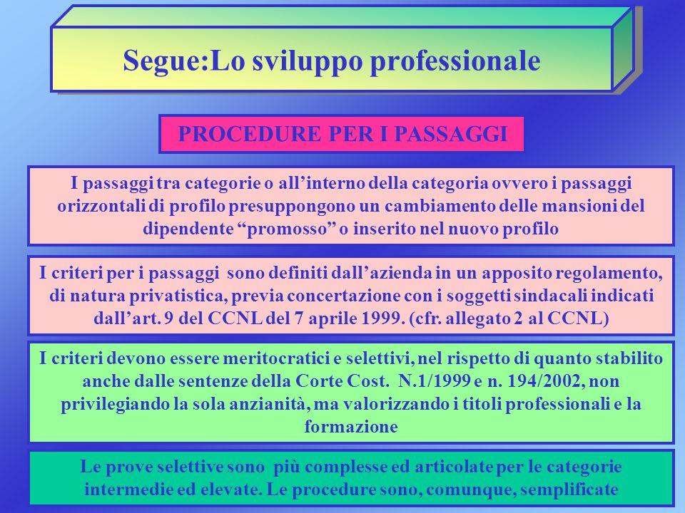 Segue:Lo sviluppo professionale