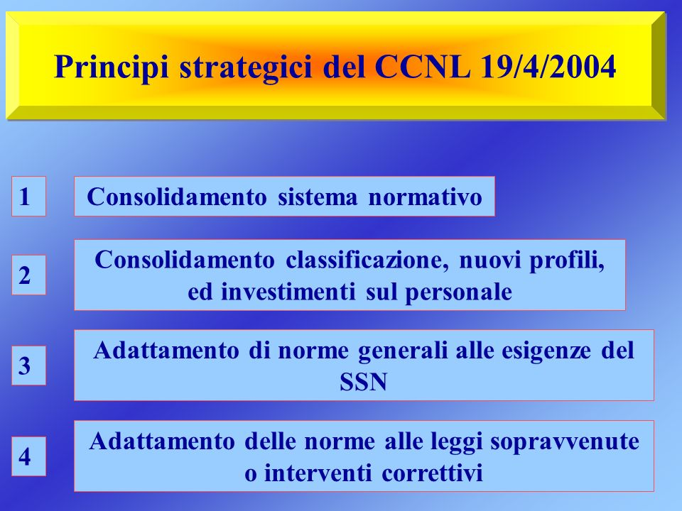 Principi strategici del CCNL 19/4/2004