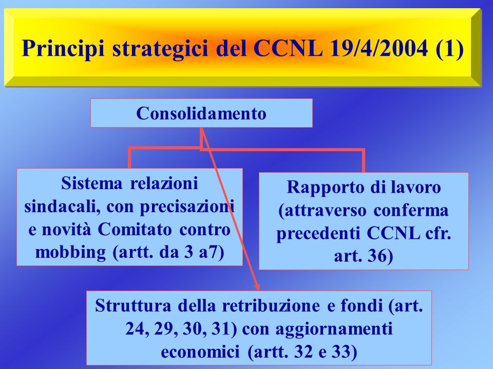 Principi strategici del CCNL 19/4/2004 (1)