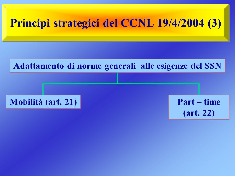 Principi strategici del CCNL 19/4/2004 (3)
