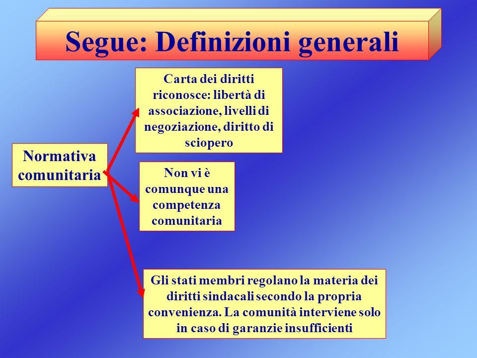 Segue: Definizioni generali