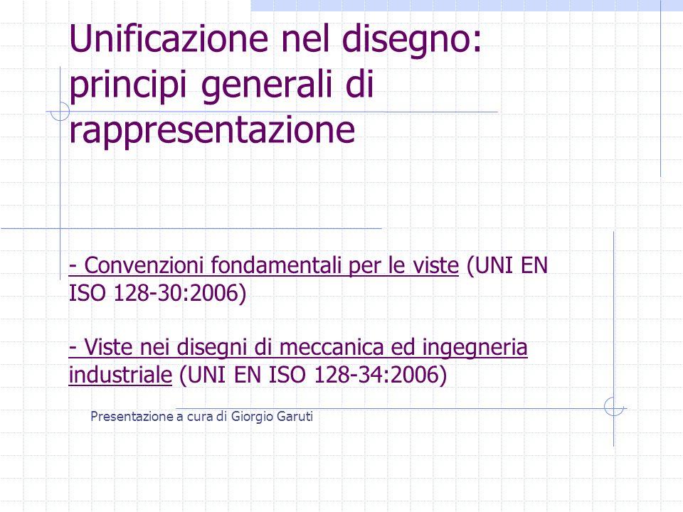 Unificazione nel disegno: principi generali di rappresentazione