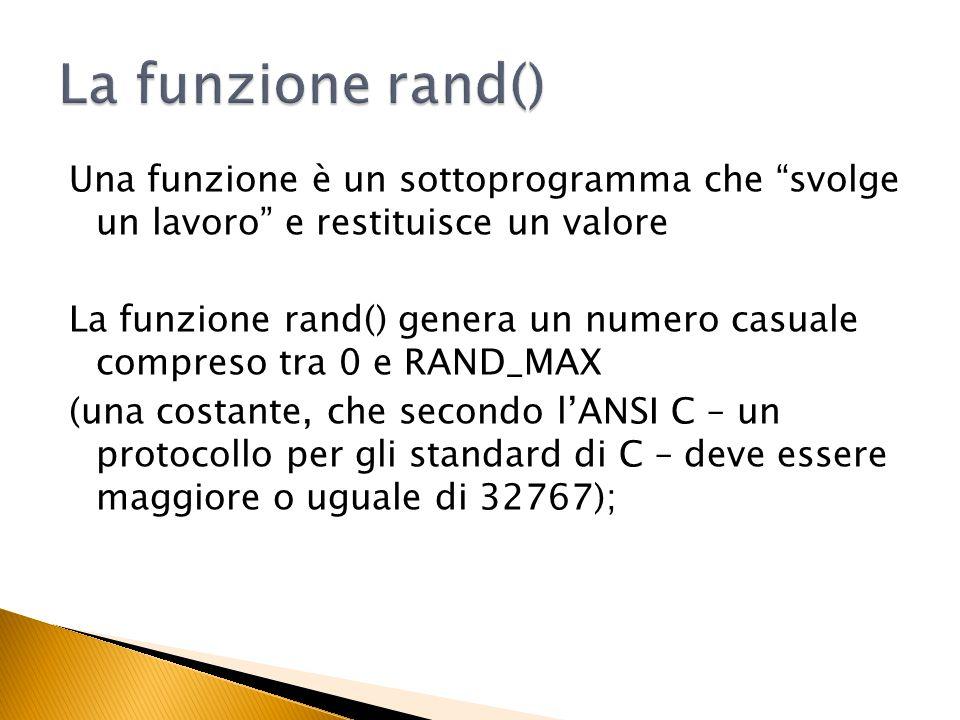 La funzione rand()