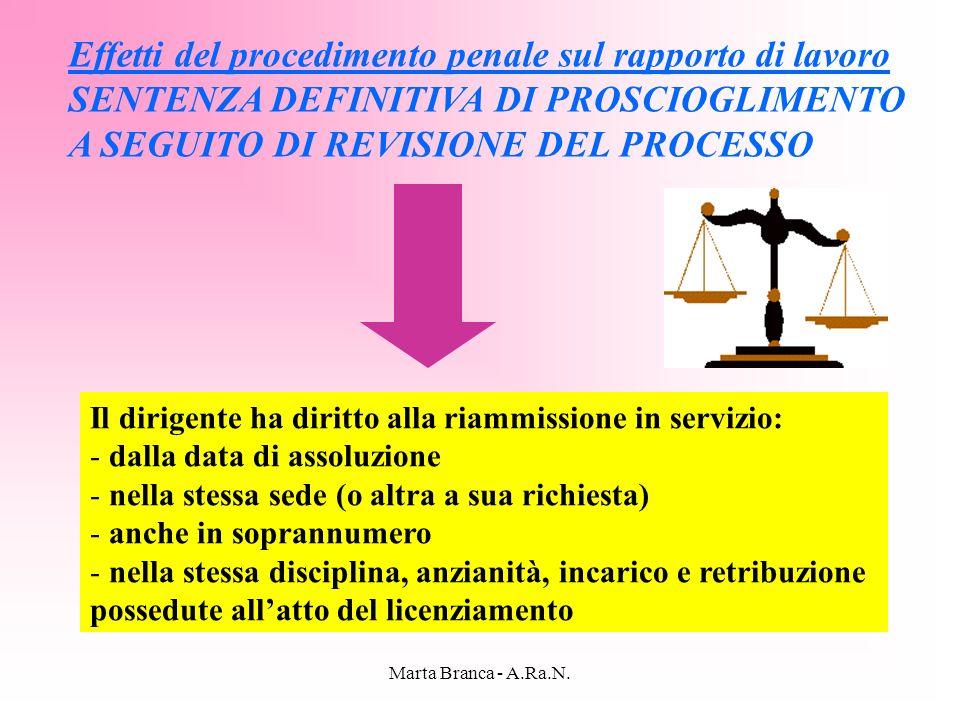 Effetti del procedimento penale sul rapporto di lavoro
