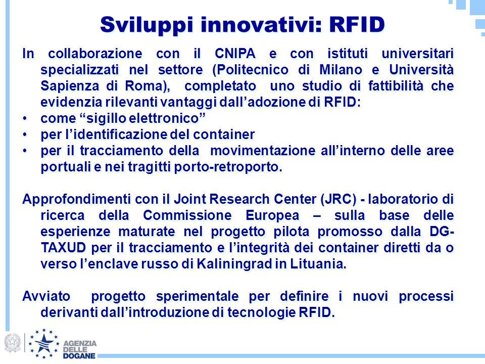 Sviluppi innovativi: RFID