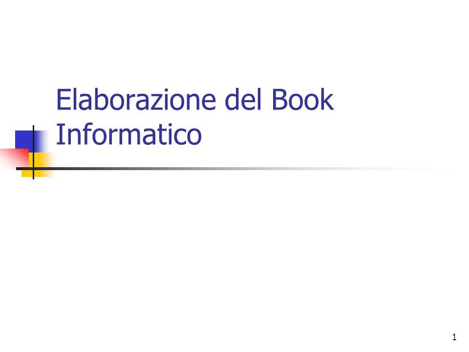 Elaborazione del Book Informatico