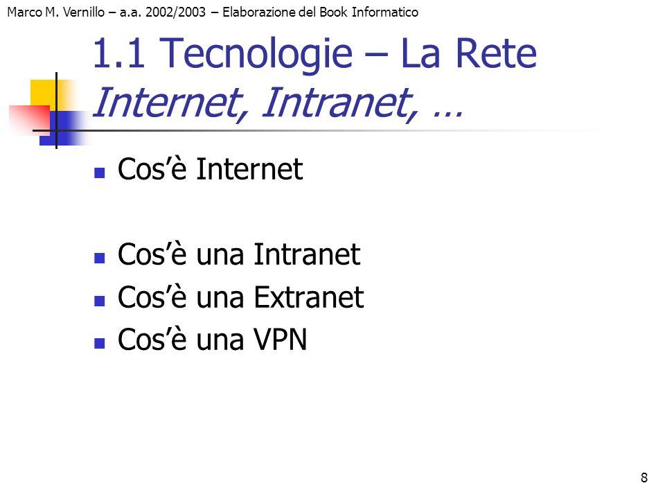 1.1 Tecnologie – La Rete Internet, Intranet, …