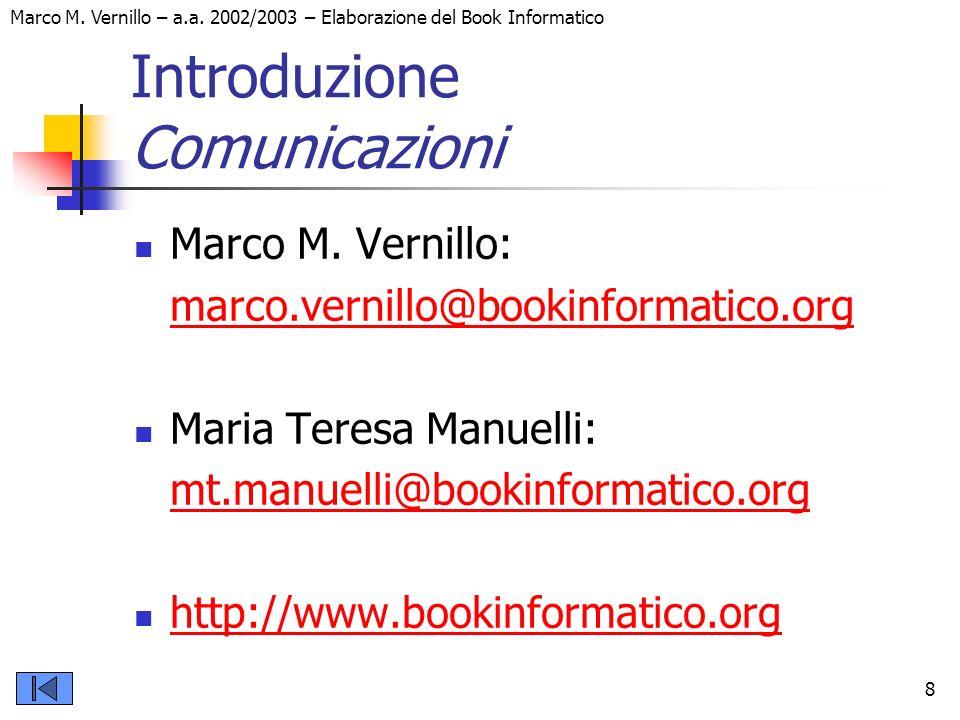 Introduzione Comunicazioni