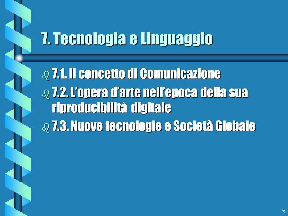 7. Tecnologia e Linguaggio