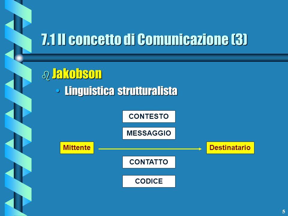 7.1 Il concetto di Comunicazione (3)