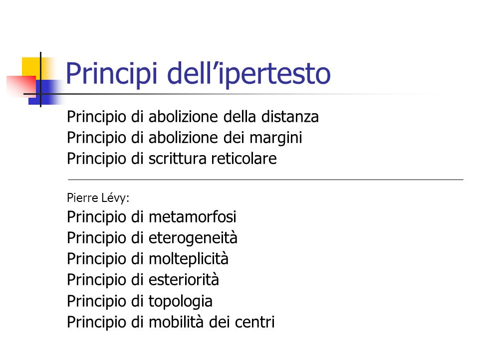 Principi dell'ipertesto