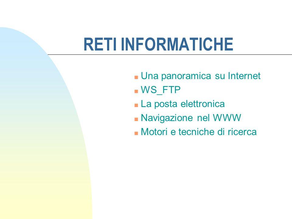 RETI INFORMATICHE Una panoramica su Internet WS_FTP
