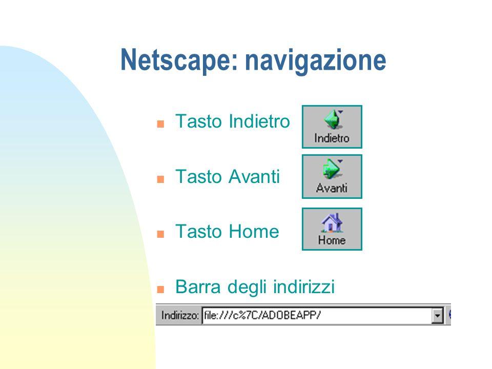 Netscape: navigazione