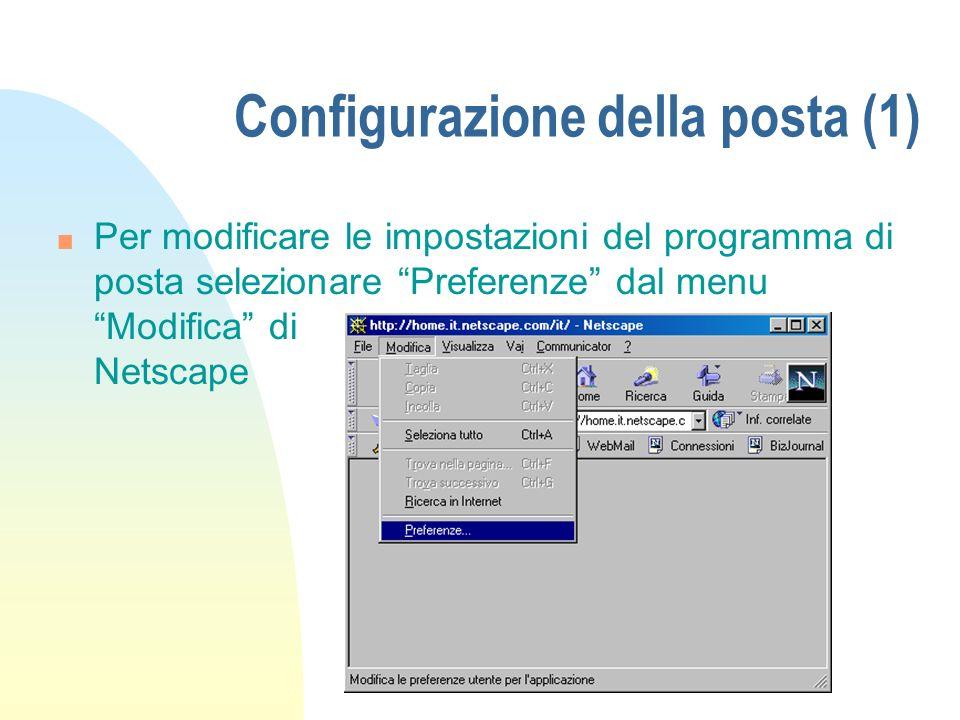 Configurazione della posta (1)