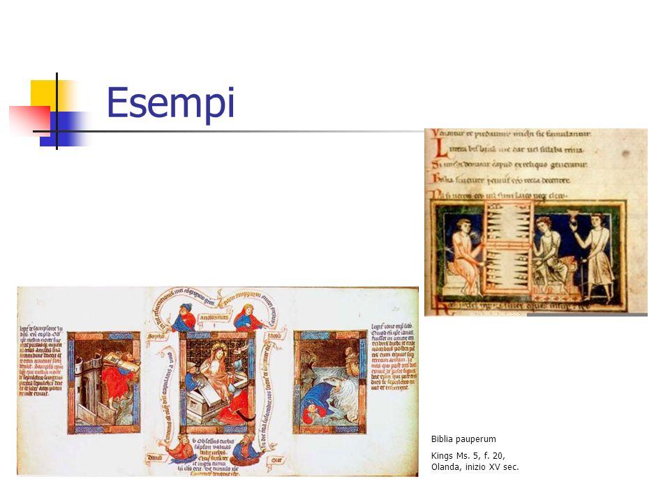 Esempi Biblia pauperum Kings Ms. 5, f. 20, Olanda, inizio XV sec.