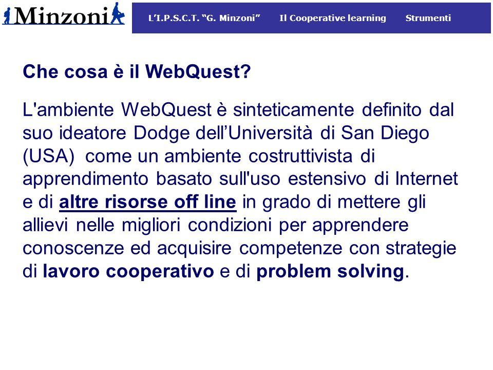 Che cosa è il WebQuest.