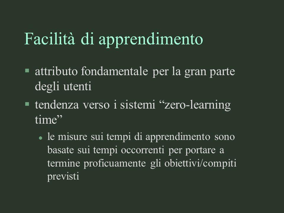 Facilità di apprendimento
