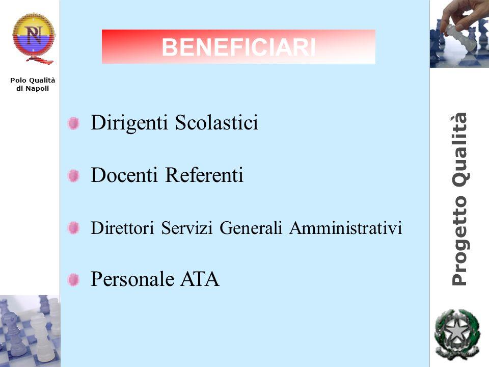 BENEFICIARI Dirigenti Scolastici Docenti Referenti