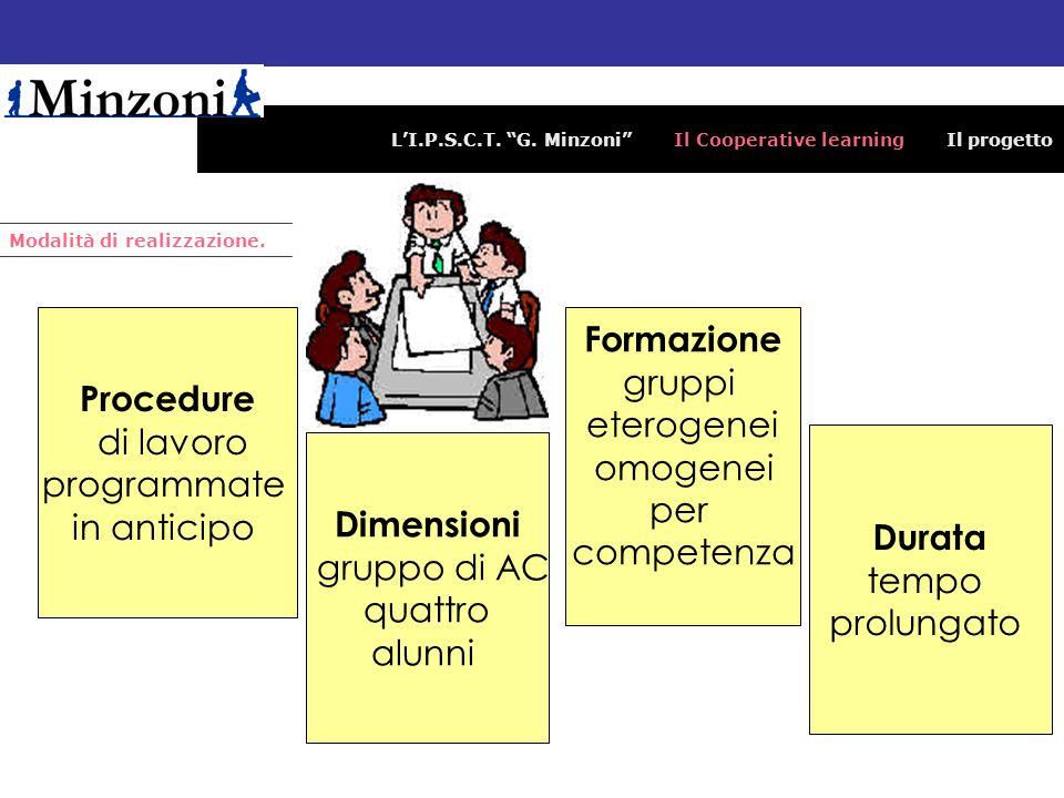 Formazione gruppi Procedure eterogenei di lavoro omogenei programmate
