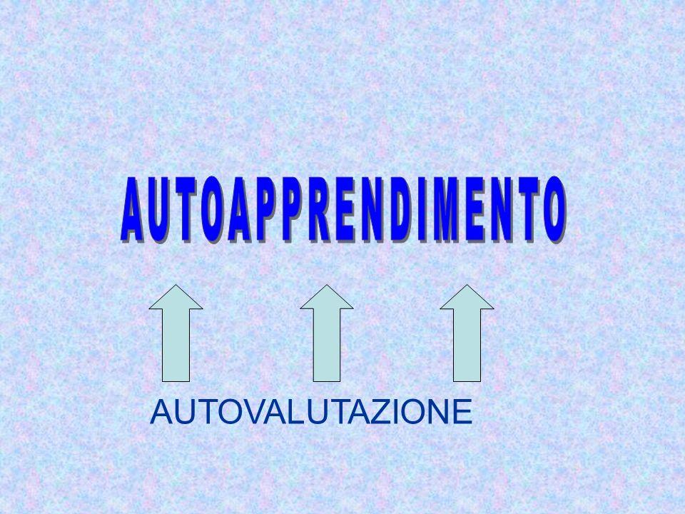 AUTOAPPRENDIMENTO AUTOVALUTAZIONE