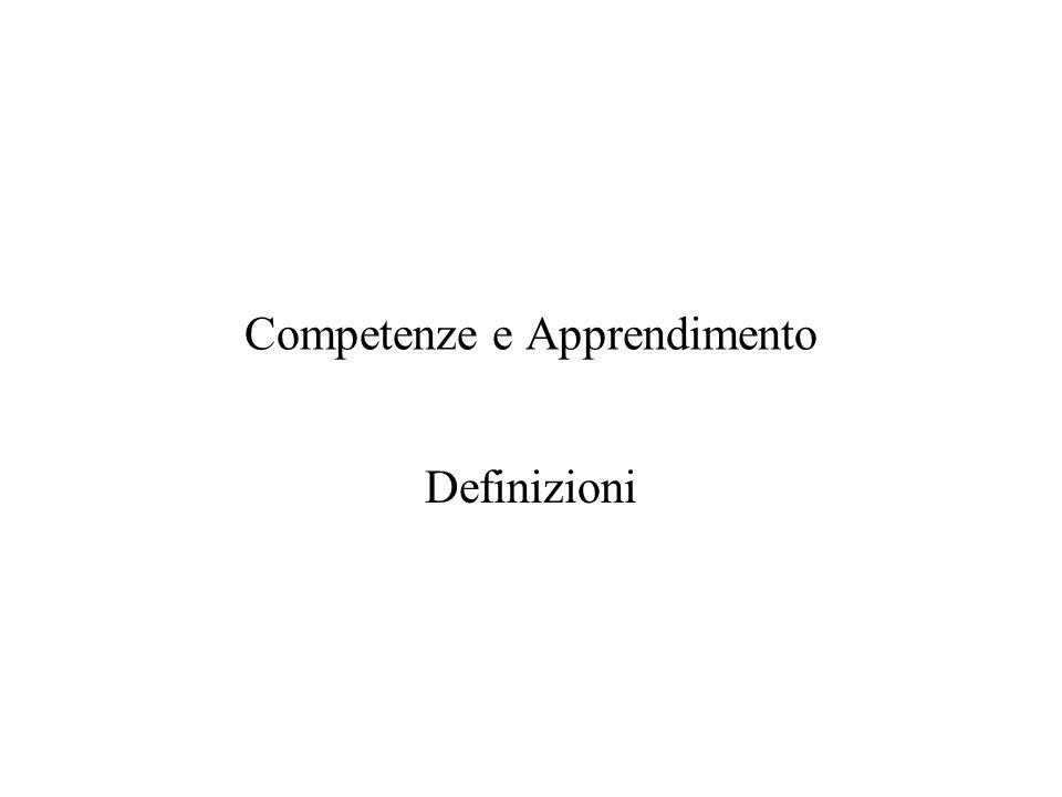 Competenze e Apprendimento