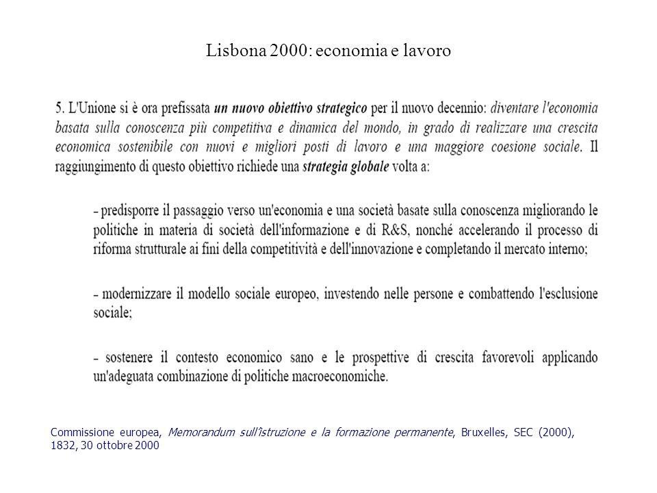 Lisbona 2000: economia e lavoro