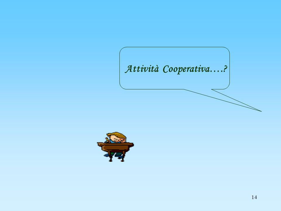 Attività Cooperativa….