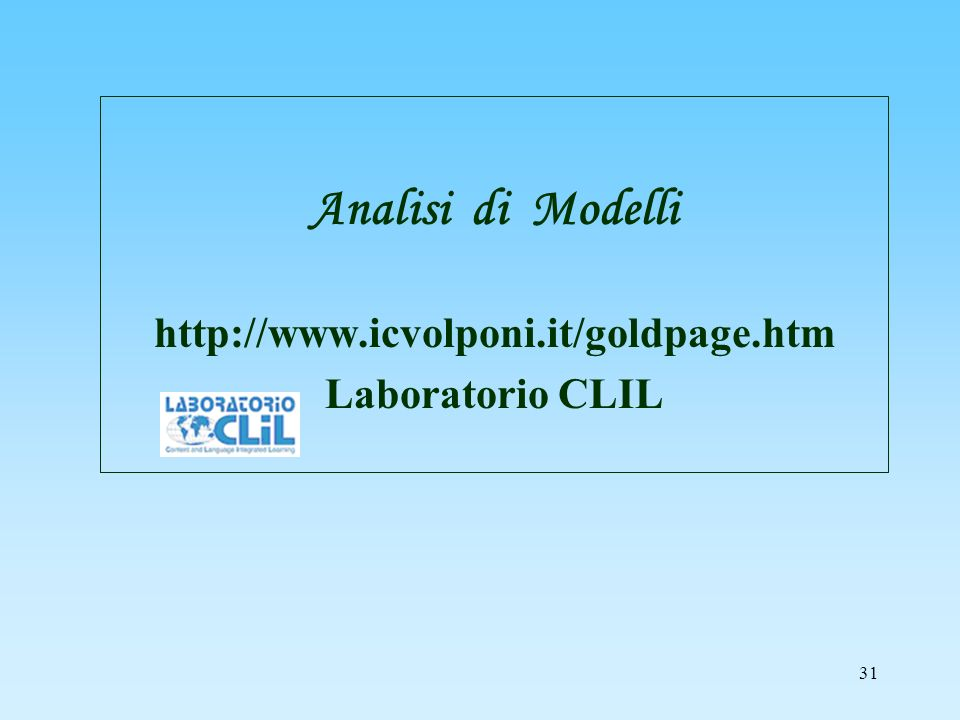 Analisi di Modelli http://www.icvolponi.it/goldpage.htm
