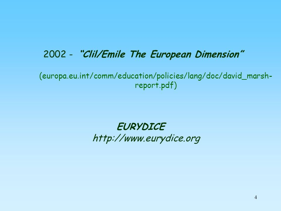 EURYDICE http://www.eurydice.org