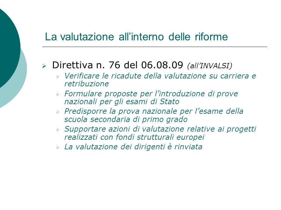 La valutazione all'interno delle riforme